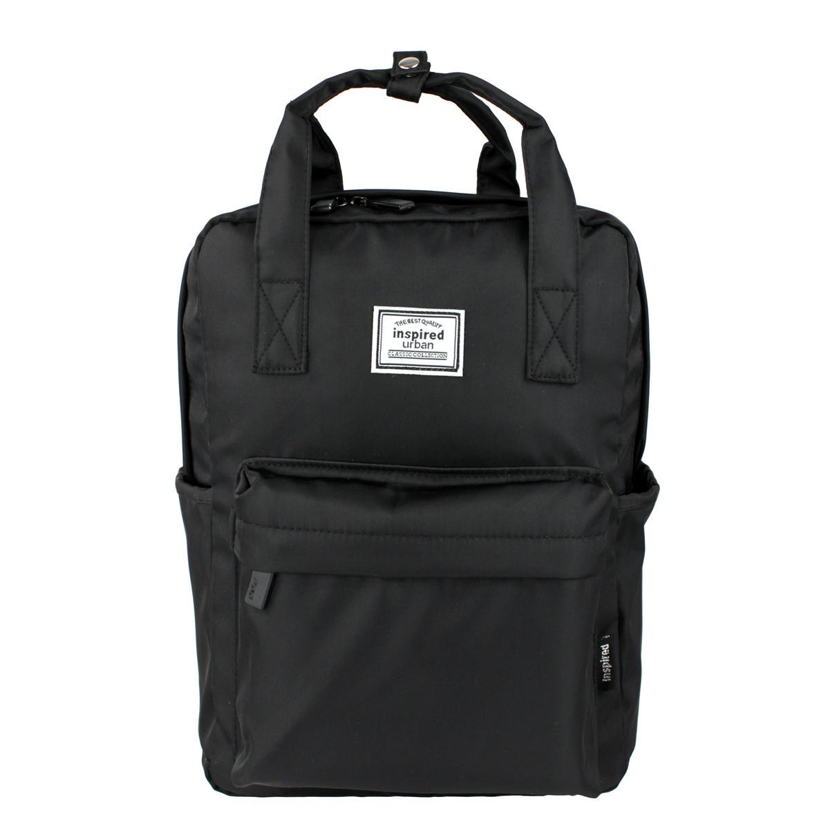 Рюкзак-сумка міський молодіжний тканинний Inspired чорний