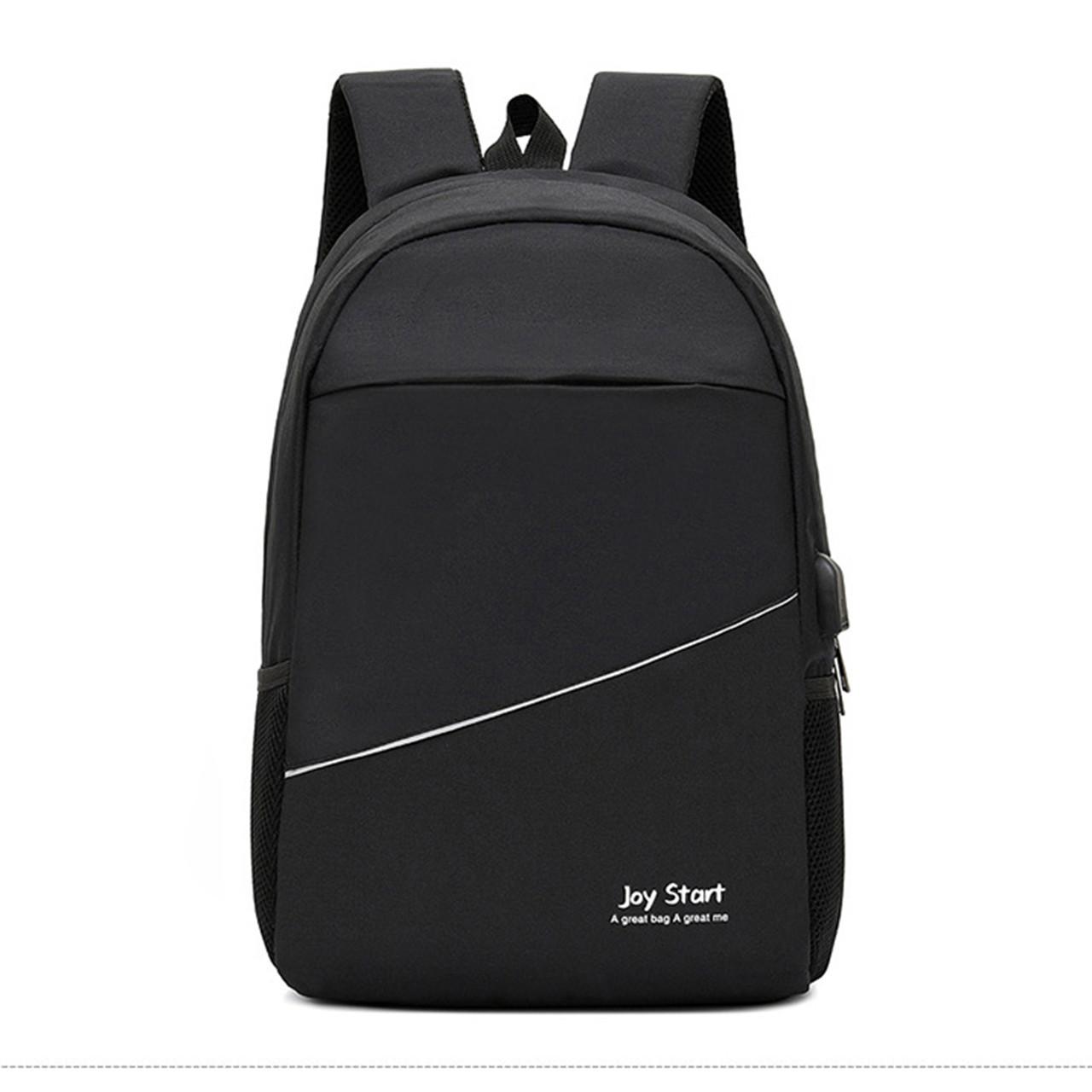 Рюкзак легкий для ноутбука 15'с USB Joy чорний (717754)