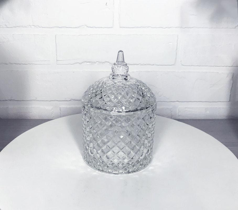 Стеклянная сахарница Бриллиант 350мл