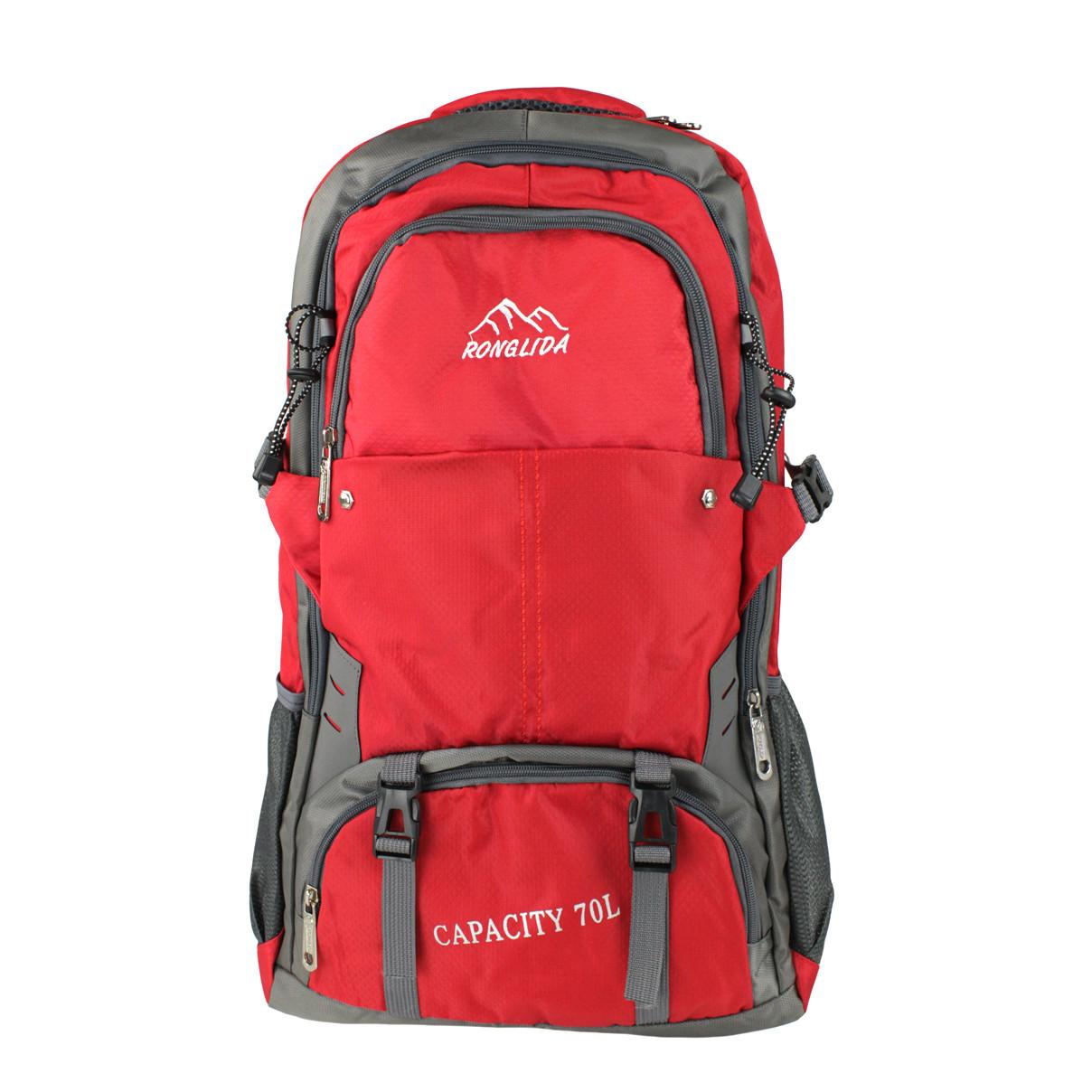 Рюкзак туристичний похідний Ronglida 70 л червоний (716867)