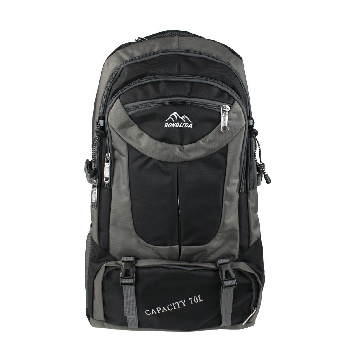Рюкзак туристичний похідний Ronglida 70 л чорний (716860)