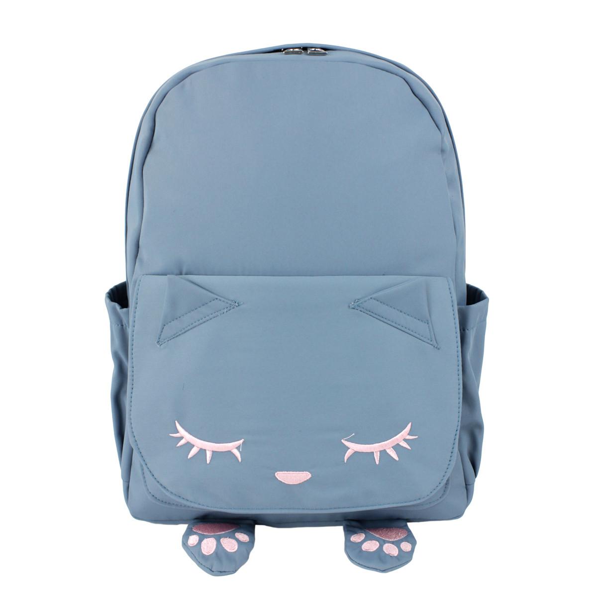 Рюкзак детский тканевый Кот голубой