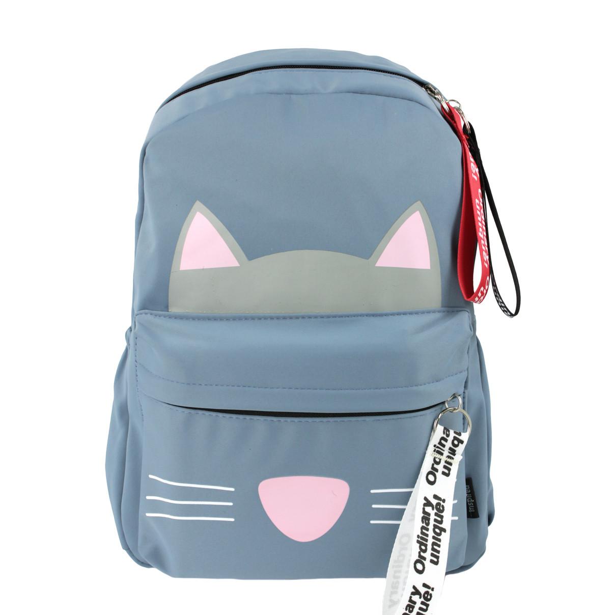 Дитячий Рюкзак для дівчаток Котик блакитний (716830)