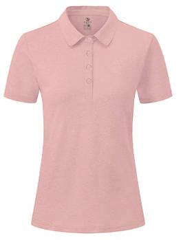 Футболка поло однотонна жіноча, колір рожевий