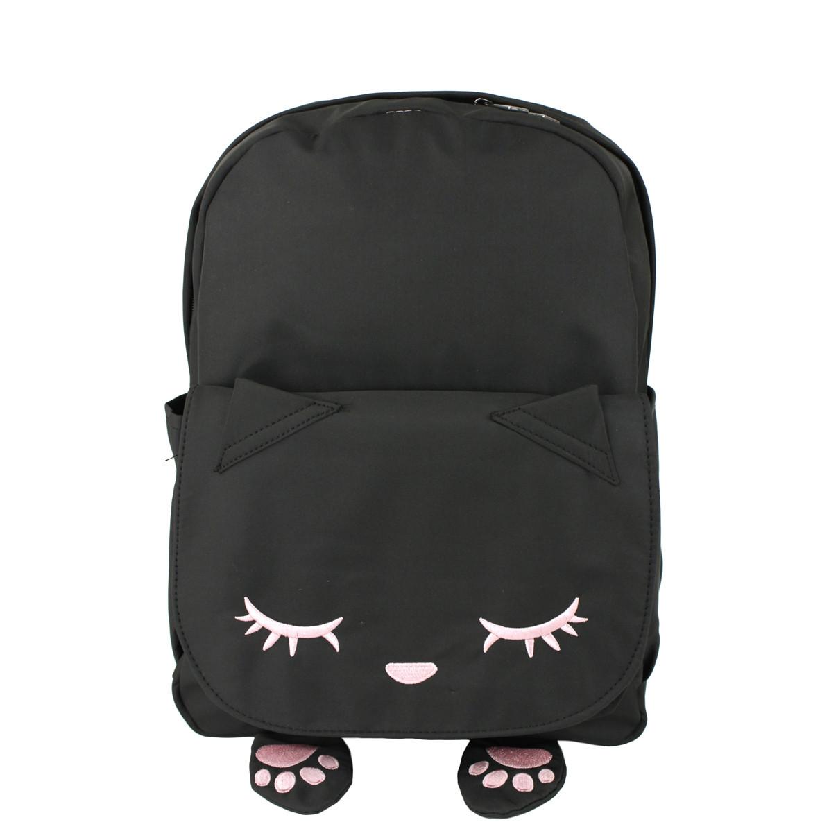Рюкзак детский тканевый Кот черный