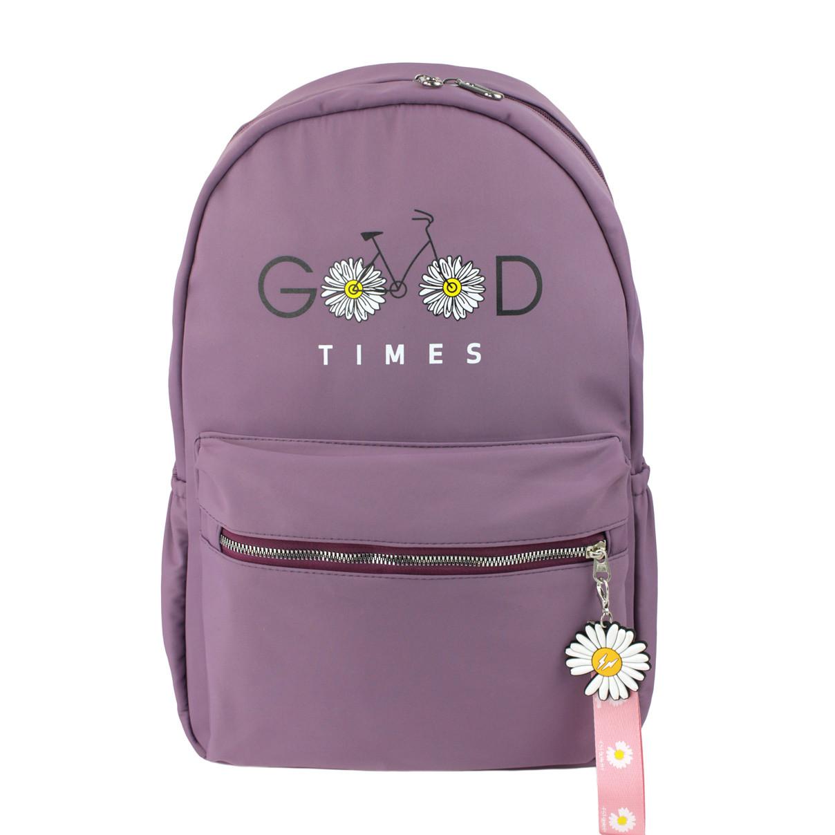 Рюкзак міський тканинний Ромашка фіолетовий (716822)