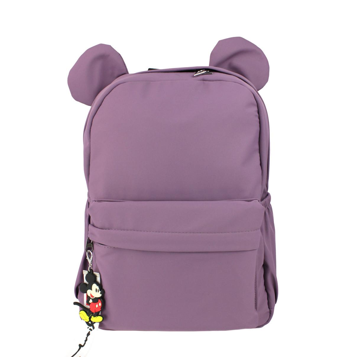 Дитячий фіолетовий рюкзак з вушками для дівчаток