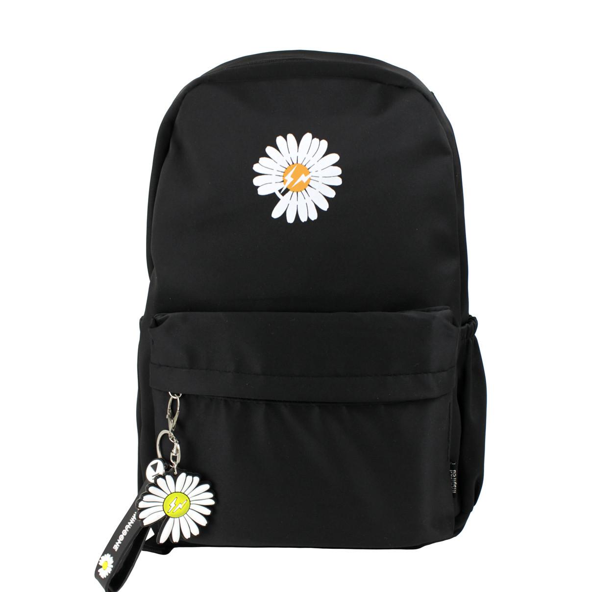Рюкзак жіночий міський Ромашка Minus чорний (716839)