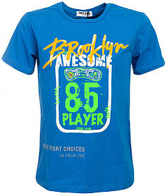 Блакитна футболка для хлопчика