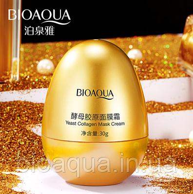 Протеиновая крем маска на яичном белке Bioaqua Egg Collagen Cream Mask,30 g