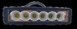 Фара LED прямоугольная 18W (6 диодов)