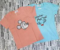 Женская летняя футболка рисунок накат размер 42-46,цвет уточняйте при заказе