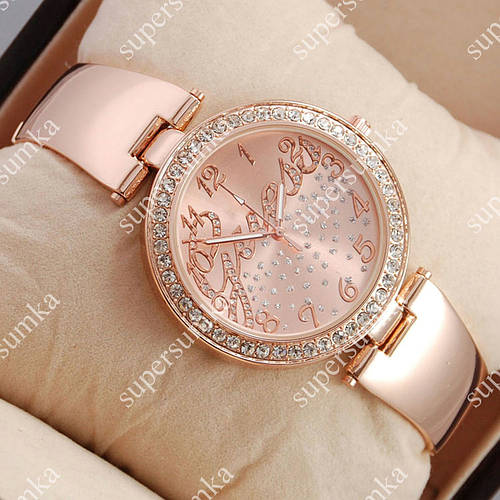 Кварцевые наручные часы Guess Big crystal Pink Gold/Pink Gold 1109