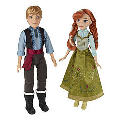 Набор Дисней Frozen Холодное сердце куклы Анна и Кристоф 28 см. Оригинал Hasbro B5168