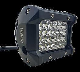 Фара LED прямоугольная 72W (24 диода) 98 мм