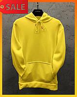 Весенняя худи унисекс толстовка качественная для мужчин и женщин кофта жёлтая S M L XL XXL XXXL
