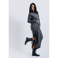 Платье женское длинное с воротником хомут оверсайз