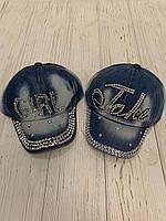 Кепки джинсові дитячі для дівчаток (48-50 см) купити оптом від складу 7 км