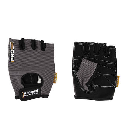 Перчатки для фитнеса и тяжелой атлетики Power System Pro Grip PS-2250 XL Grey (Пара), фото 2