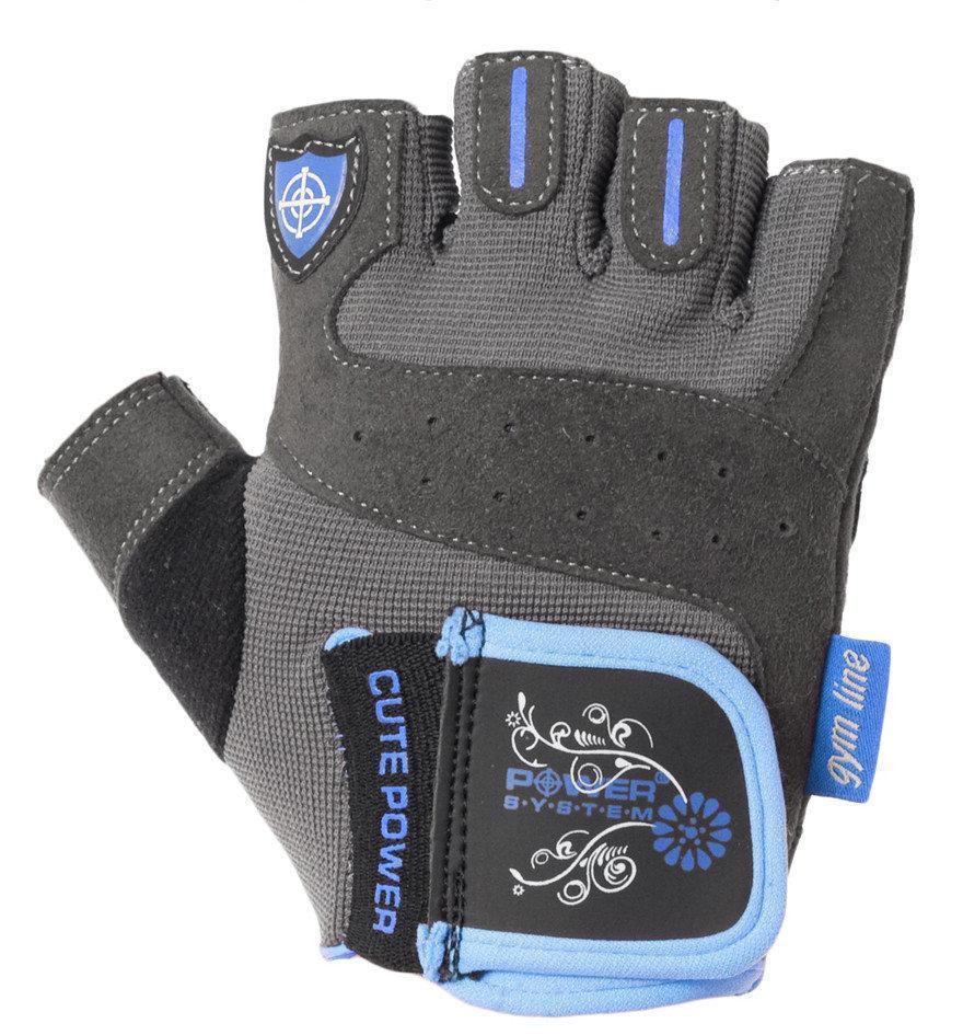 Перчатки для фитнеса и тяжелой атлетики Power System Cute Power PS-2560 женские XS Blue (Пара)