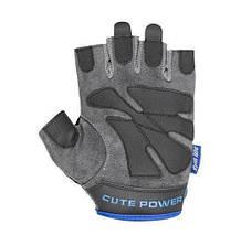 Перчатки для фитнеса и тяжелой атлетики Power System Cute Power PS-2560 женские XS Blue (Пара), фото 2