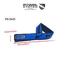 Кистьові ремені Power System PS-3401 Lifting Straps Duplex Black/Blue (Пара), фото 2