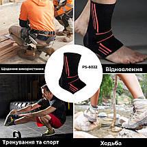 Еластичний Голеностоп Power System Ankle Support Evo PS-6022 L Black/Orange, фото 3