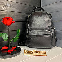 Женский кожаный рюкзак Черный Женские рюкзаки из натуральной кожи