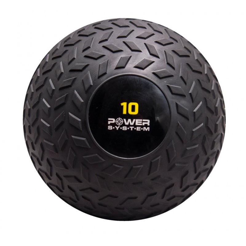 Слембол 10 кг для кросфита і фітнесу Power System PS-4116 рифлений