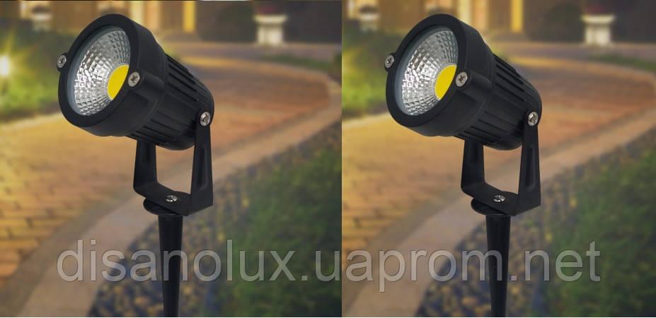 Світильник ландшафтний KL-2503 Spike в грунт COB 5W LED yellow 230V IP65 комплект 2шт