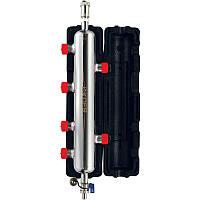 """Гидрострелка KOER 75 кВт KR.S1032 (з повітровід. і дренаж. краном) 1"""" (нерж.)"""
