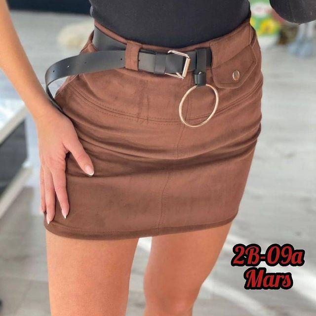 Женская юбка, замш на дайвинге, р-р 42-44; 44-46 (шоколад)