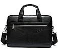 Мужская кожаная сумка портфель для документов Marrant - черный, фото 3