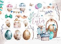 """Открытка с пасхальными элементами """"Cute Easter"""""""