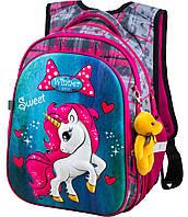 Рюкзак шкільний ортопедичний для дівчаток 1,2 клас Ранець портфель для школи Єдиноріг Winner One R1-003