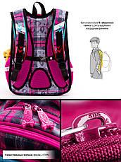 Рюкзак шкільний ортопедичний для дівчаток 1,2 клас Ранець портфель для школи Єдиноріг Winner One R1-003, фото 3
