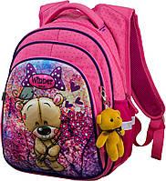 Шкільний ортопедичний рюкзак для дівчаток 1,2 клас Ранець портфель для школи Мишко Winner One R2-166