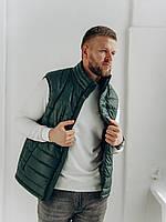 Стильная мужская жилетка зеленого цвета  , Весна 2021
