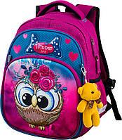 Шкільний ортопедичний рюкзак для дівчаток 1 клас Ранець портфель для школи Мишко Winner 1708