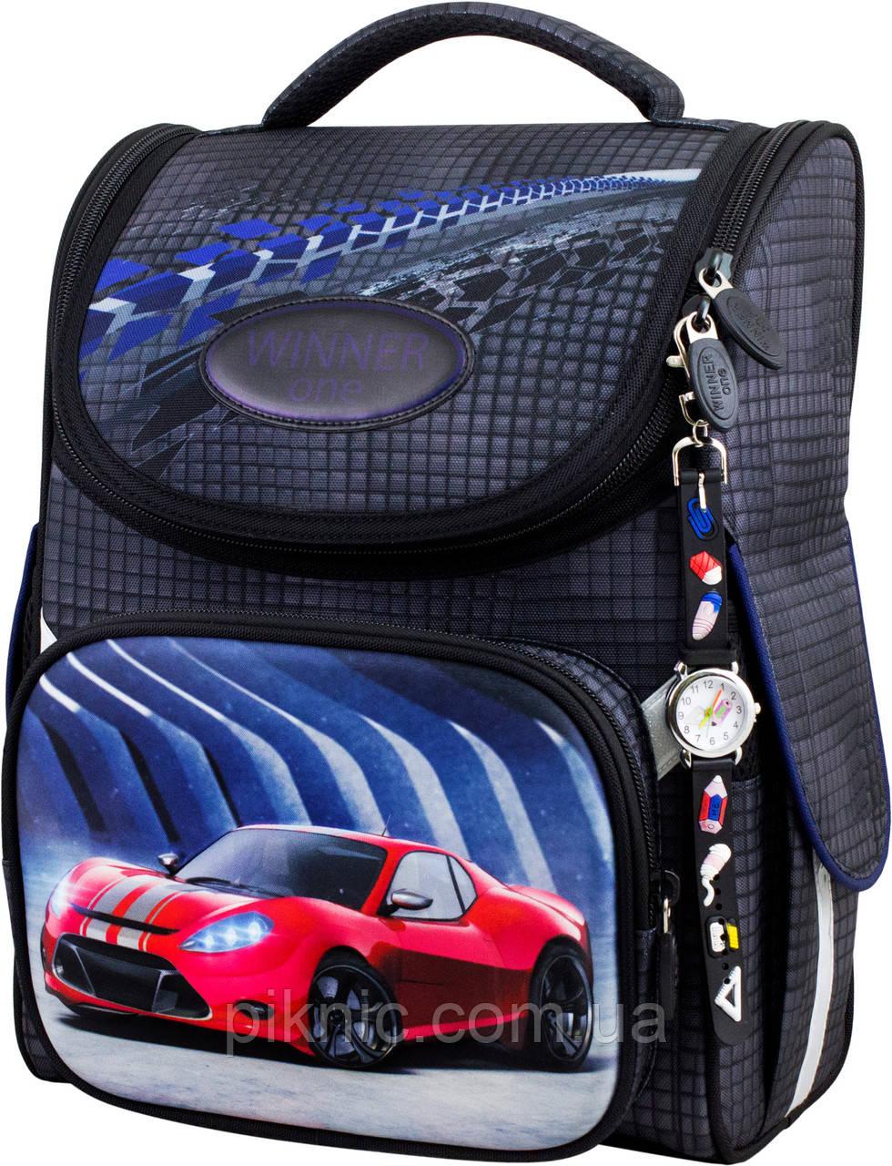Ранец школьный для мальчиков Winner One 2051 Рюкзак портфель каркасный 1 класс