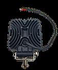 Фара LED квадратна 126 W, 42 лампи, широкий промінь 10/30V 6000K товщина: 40 мм, фото 5