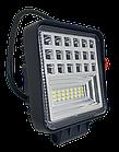 Фара LED квадратна 126 W, 42 лампи, широкий промінь 10/30V 6000K товщина: 40 мм, фото 4