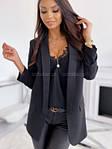 Жіночий піджак, костюмка Барбі, р-р 42; 44-46 (чорний), фото 3