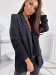 Жіночий піджак, костюмка Барбі, р-р 42; 44-46 (чорний), фото 2