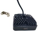 Фара LED квадратная 126W, 42 лампы, широкий луч 10/30V 6000K толщина: 40 мм.+ LED кольцо, фото 3
