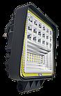 Фара LED квадратная 126W, 42 лампы, широкий луч 10/30V 6000K толщина: 40 мм.+ LED кольцо, фото 2