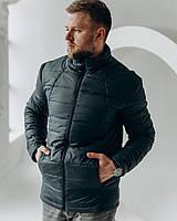 Мужская стеганая весенняя куртка синего цвета , Весна 2021