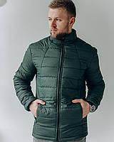 Мужская стеганая весенняя куртка цвета хаки , Весна 2021
