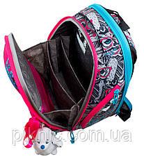 Шкільний ранець для дівчаток DeLune 10-003 Рюкзак ранець портфель каркасний ортопедичний, фото 3