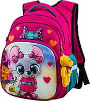 Рюкзак шкільний ортопедичний для дівчаток 1,2 клас Ранець портфель для школи Мишка Winner One R3-221